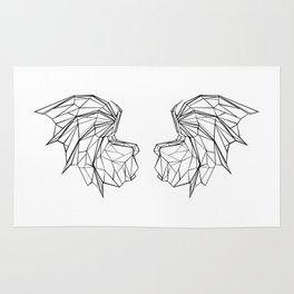 Polygonal Dragon Wings Rug