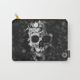 Garden Skull Dark B&W Carry-All Pouch