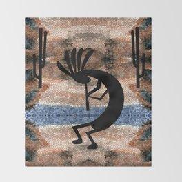 Kokopelli Southwest Desert Throw Blanket