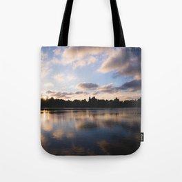 Central Park Sunset Reflection Tote Bag