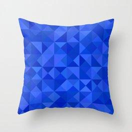 Blue pyramids Throw Pillow