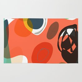 Abstract Shapes Pattern Be Kind Rug