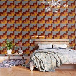 Off Axis - Chevron - Red, Orange, Gray Wallpaper