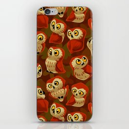 Northern Saw-whet owls pattern. iPhone Skin