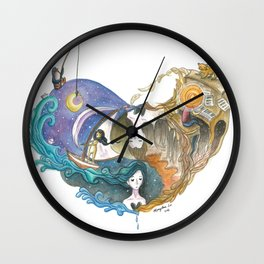 Love Story That Repeats Itself Throughout Time Wall Clock