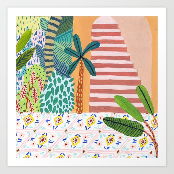 Jungle Staircase Kunstdrucke