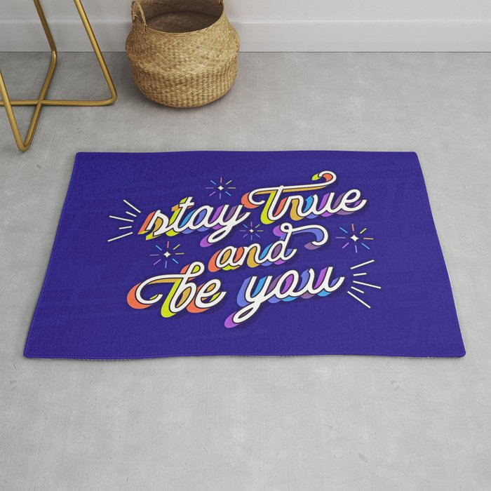 Just Be Yourself Rug By Jacob-sternberg