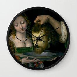 Salome with the Head of Saint John the Baptist - Andrea Solario Wall Clock