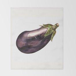 Eggplant Throw Blanket