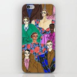 Delpozo Girls in Fall 2019 – Original Fashion art, Fashion Illustration, Fashion wall art iPhone Skin