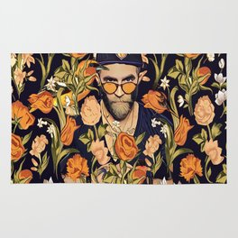 Floral New York fan Rug