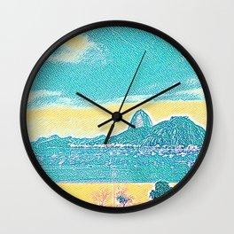 Rio de Janeiro - Pão de Açúcar - Art 032 Wall Clock