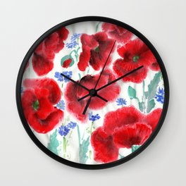Flowers of the Cornfield Wall Clock