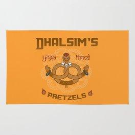 Street Vendor 2- Dhalsim's yoga fired Pretzels Rug