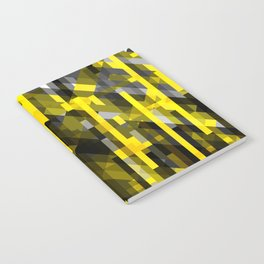 abstract composition in yellow and grays Notebook