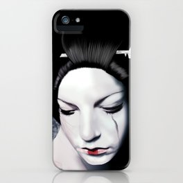 Geisha Tears iPhone Case