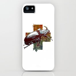 Rhinoceros beetle on the cross iPhone Case