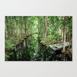 Swamp Boat Canvas Print