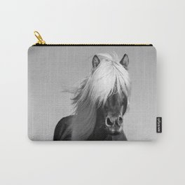 Portrait of a Horse in Scotish Highlands Carry-All Pouch