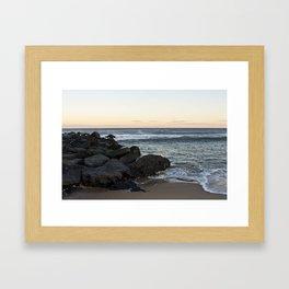 Side Beach - Color  Framed Art Print