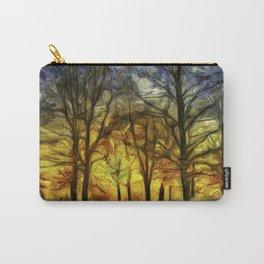 Greenwich Park London Sunset Art Carry-All Pouch