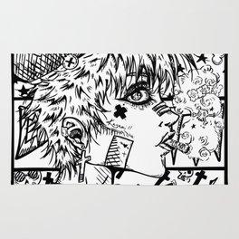 Anime Rock girl Rug