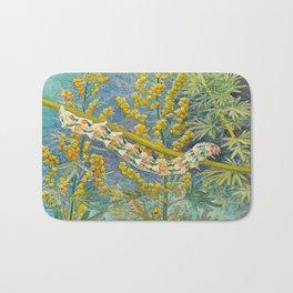 Cucullia Absinthii Caterpillar Bath Mat