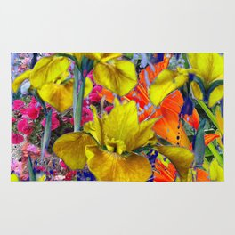 Yellow Iris Abstract Rug