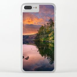 By the Lake Side Clear iPhone Case