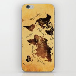world map 75 iPhone Skin