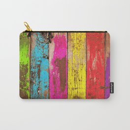 Vintage Colored Wood Carry-All Pouch