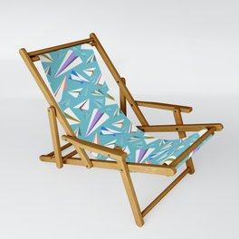 Aeroplanes - Paper Airplanes Pattern Sling Chair