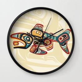Salish Salmon Wall Clock