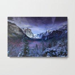 Yosemite in Winter Metal Print