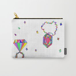 Shine Colorfully diamonds jewelry illustration fashion gem colorful accessory princess girly Carry-All Pouch