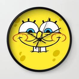 Spongebob Naughty Face Wall Clock