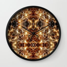 Sea Urchin Lights Wall Clock