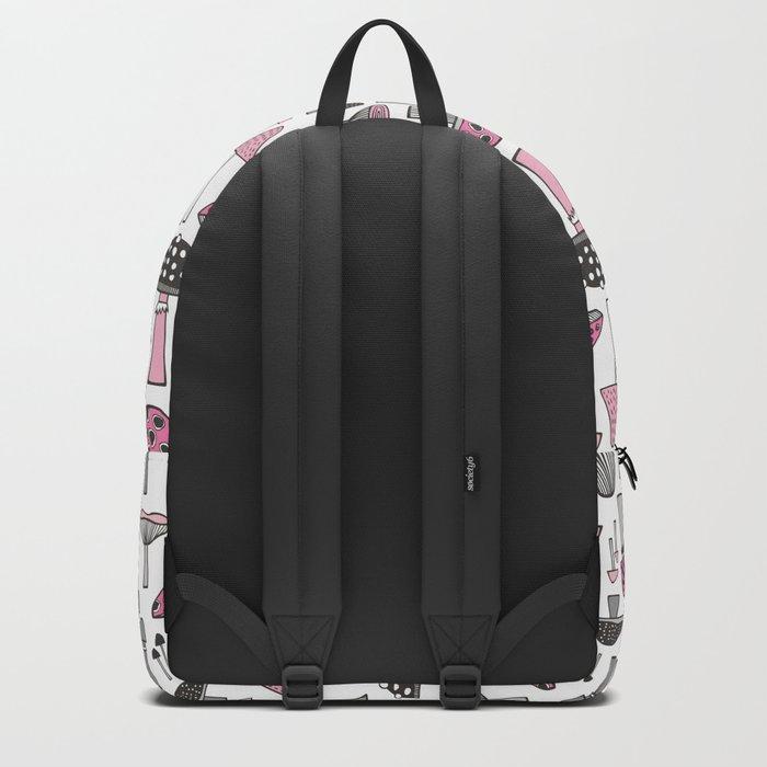 Pink Mushrooms Backpack