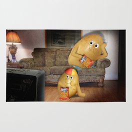 Father And Son Couch Potatoes Rug