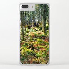 Late Spring Forest Clear iPhone Case