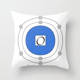 Oxygen - Bohr Model Throw Pillow