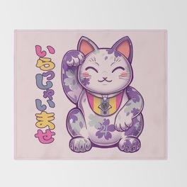 Maneki Neko DLGR Throw Blanket