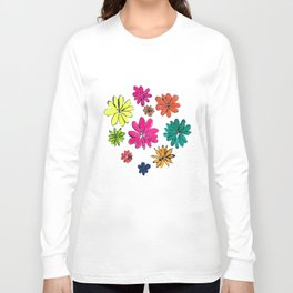 Blotted Flowers collection Long Sleeve T-shirt