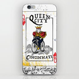 Queen of Cincinnati Bike Print iPhone Skin