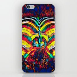 1349s-MAK Abstract Pop Color Erotica Explicit Psychedelic Yoni Buns iPhone Skin
