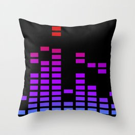 Equalizer bars in RGP Throw Pillow