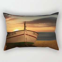 The boat in the sunset Rectangular Pillow
