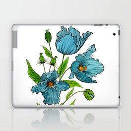 Blue Poppies Laptop & iPad Skin