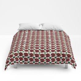 Garnets and fractal hearts Comforters