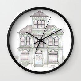 Green Italianate Victorian Wall Clock